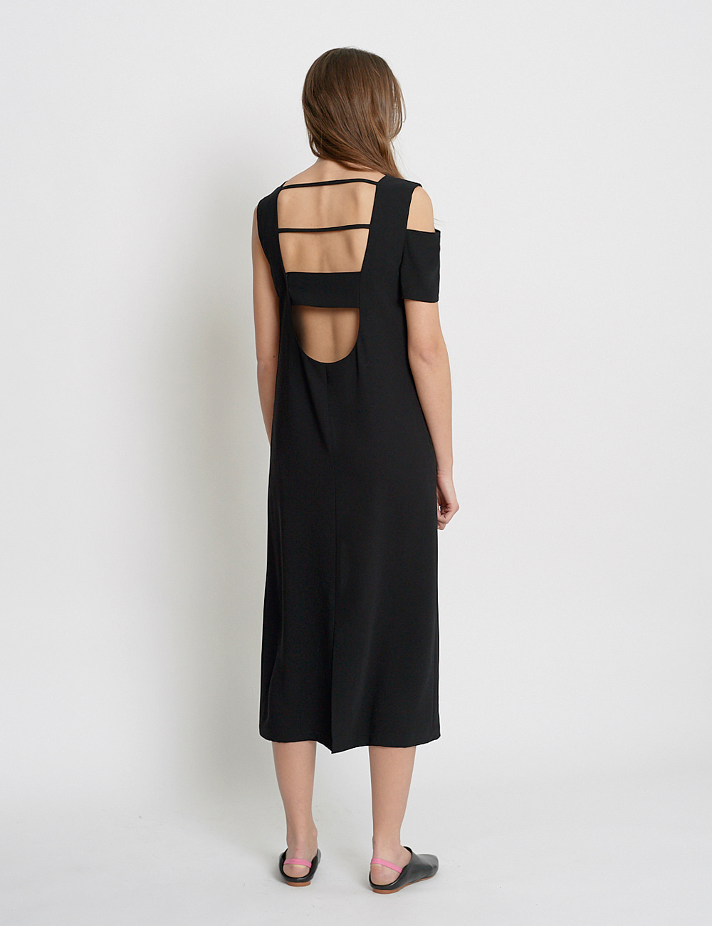 Unbalanced cut-out Sleeveless Dres