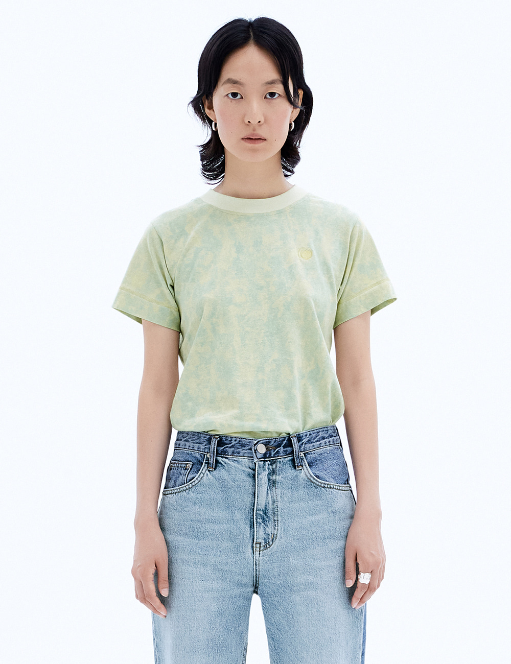 Neck Coloration Top_ Washed Melon