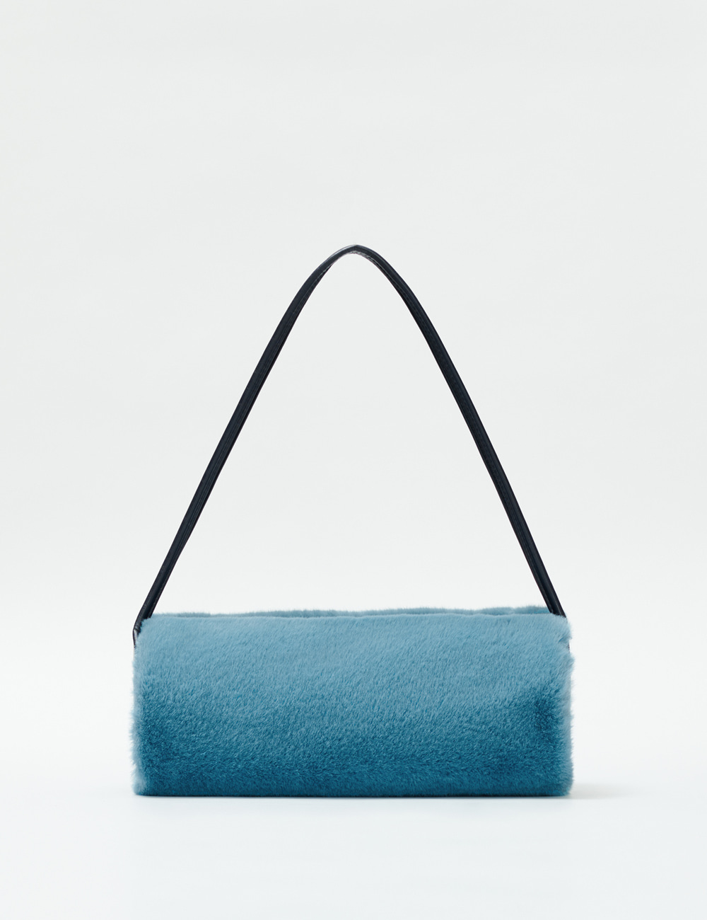 Minimal Barrel Fur Bag_Sky Blue